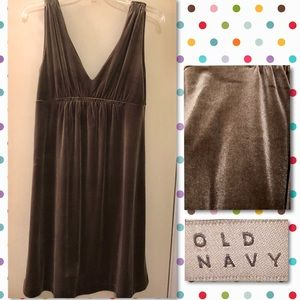 2for $20 Old Navy Shimmer sleeveless dress Brown M